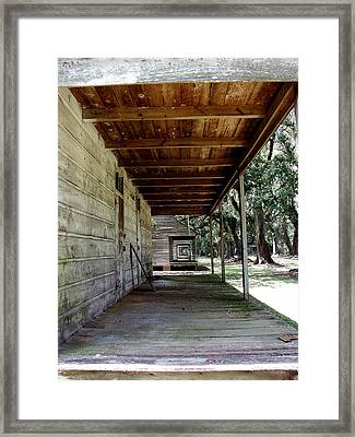 Slave Cabin Row - Laurel Valley Framed Print by Paul Michaels