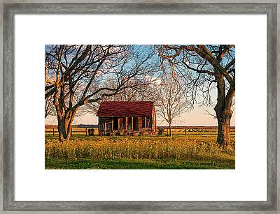 Slave Quarters - Laura Plantation - Vacherie, Louisiana Framed Print by Mitch Spence