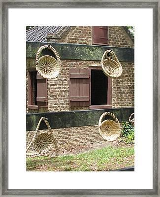 Slave Shack And Sweet Grass Baskets Framed Print