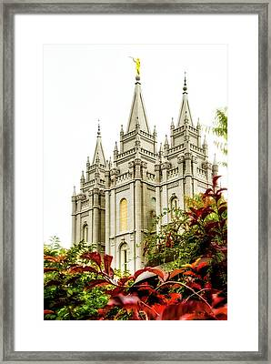 Slc Temple Angle Framed Print