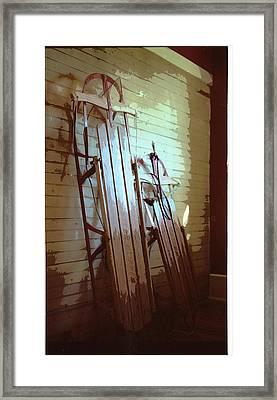 Sleds Framed Print by Michael Morrison