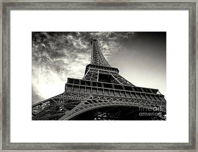 Sleek Eiffel Tower Framed Print by John Rizzuto