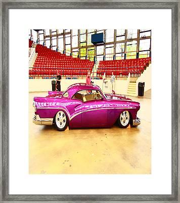 Sleek Pink Sudan Framed Print