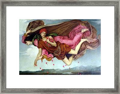 Sleep And Night Framed Print by Evelyn de Morgan