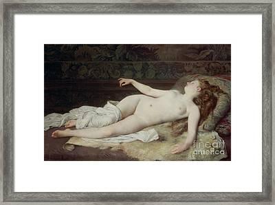 Sleep Framed Print by Louis Joseph Raphael Collin