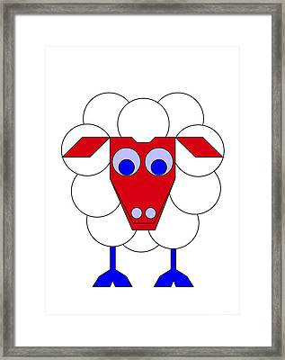 Sleep-sheep Framed Print by Asbjorn Lonvig