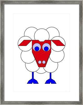 Sleep-sheep Framed Print by Asbjorn Lonvig