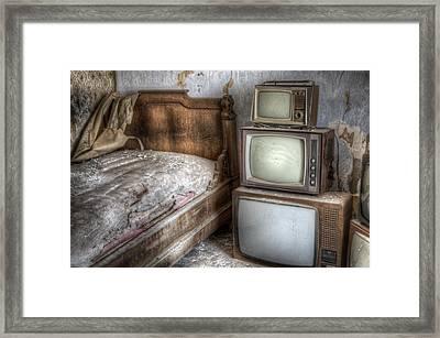 Sleep Tv's Framed Print