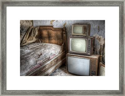 Sleep Tv's Framed Print by Nathan Wright