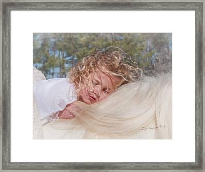 Sleeping Angel Framed Print by Terry Kirkland Cook
