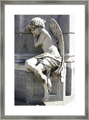 Sleeping Angel Framed Print by Tia Anderson-Esguerra