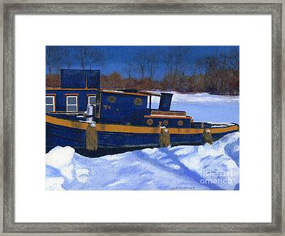 Sleeping Barge Framed Print