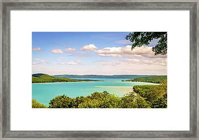 Framed Print featuring the photograph Sleeping Bear Dunes National Lakeshore by Alexey Stiop