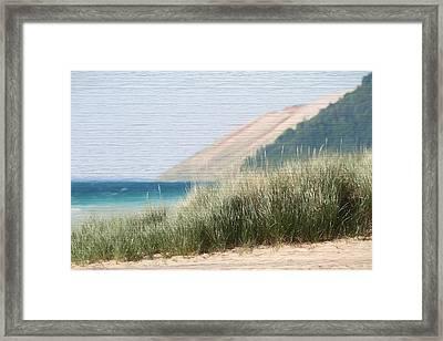 Sleeping Bear Sand Dune Framed Print by Dan Sproul
