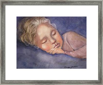 Sleeping Beauty Framed Print by Marilyn Jacobson