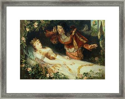 Sleeping Beauty Framed Print by Richard Eisermann