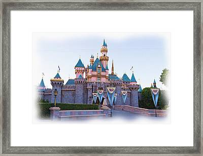Sleeping Beauty's Castle Disneyland Framed Print
