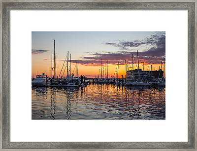 Sleeping Boats Framed Print by Karol Livote