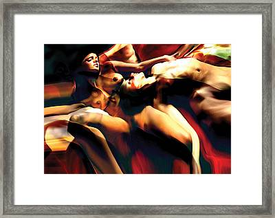 Sleeping Bodies Framed Print by Naikos N