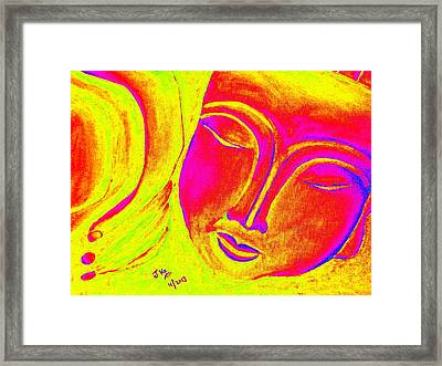 Sleeping Buddha 1 Framed Print by Jagjeet Kaur