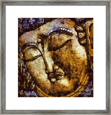 Sleeping Buddha By Sarah Kirk Framed Print by Sarah Kirk