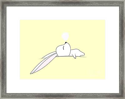 Sleeping Bunny Framed Print by Kourai