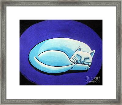 Sleeping Cat Framed Print by Genevieve Esson
