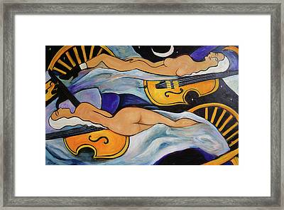 Sleeping Cellists Framed Print by Valerie Vescovi