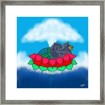 Sleeping Ganesha Framed Print