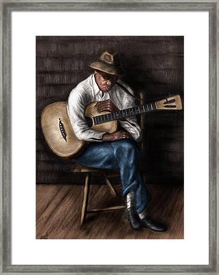 Sleeping Guitarist Framed Print by Karl Fritz