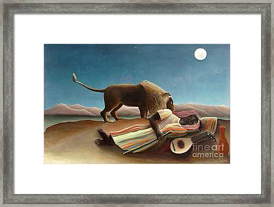Sleeping Gypsy 1897 Framed Print by Padre Art