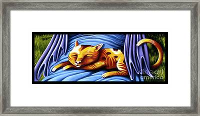 Sleeping Kitty Framed Print