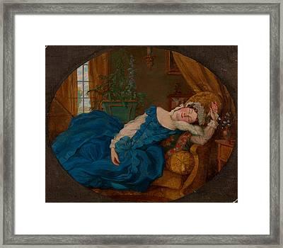 Sleeping Lady Framed Print