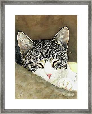 Sleeping Mia Framed Print