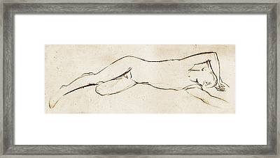 Sleeping Framed Print by Nato  Gomes