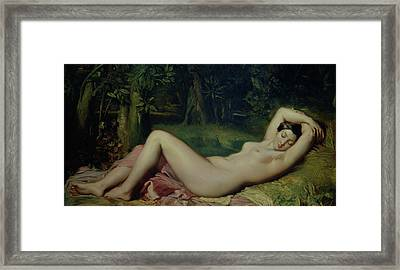Sleeping Nymph Framed Print by Theodore Chasseriau