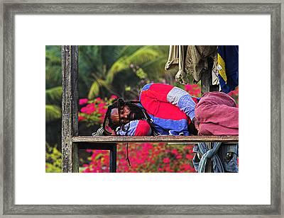 Sleeping Rasta-st Lucia Framed Print