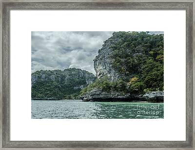 Sleeping Rock Framed Print by Michelle Meenawong