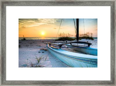 Sleeping Sailboat Framed Print by Clay Townsend