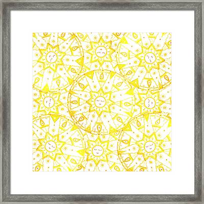Sleeping Sun Framed Print by Signe  Beatrice