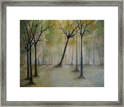 Sleeping Trees Framed Print