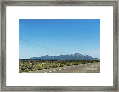 Sleeping Ute Mountain Framed Print by Joan McCool