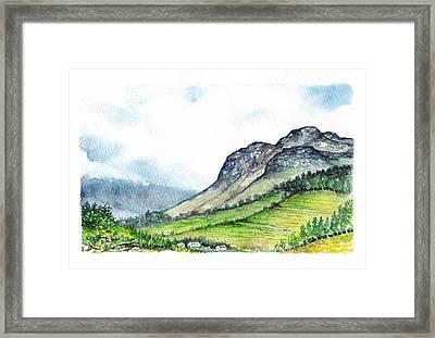 Framed Print featuring the painting Sleeping Valley by Heidi Kriel