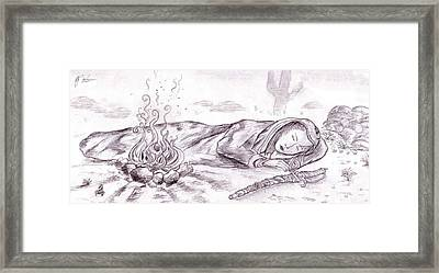 Sleeping Warrior Framed Print by RJ Roskom