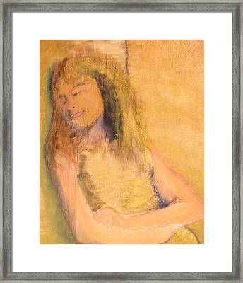 Sleeping With Baby Framed Print by J Bauer