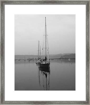 Sleeping Yacht Framed Print by Arthur Sa