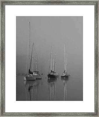 Sleeping Yachts  Framed Print by Arthur Sa
