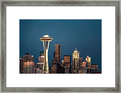 Framed Print featuring the photograph Sleepless In Seattle by Eduard Moldoveanu