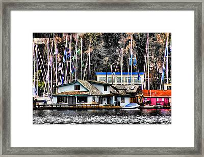 Sleepless In Seattle House Framed Print