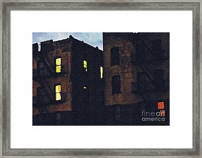 Sleepless In The Bronx Framed Print by Sarah Loft